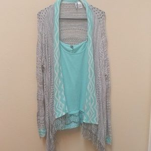 Cardigan and tank